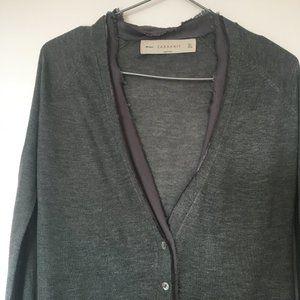 Zara Grey Long Sleeve Knit Cardigan XS/S